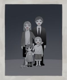 """some reason, this reminds me of that quote from Anna Karenina- """"happy families are all alike. Each unhappy family is unhappy in it's own way. Dark Art Illustrations, Illustration Art, Sad Anime, Anime Art, Art Triste, Image Triste, Sun Projects, Art Mignon, Sad Drawings"""