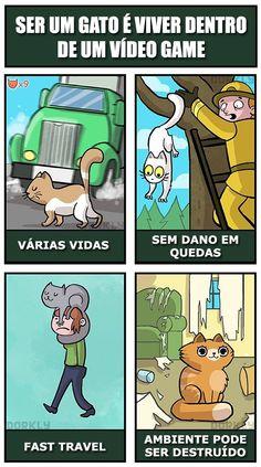 Ser Um Gato é Viver Dentro De Um Jogo De Vídeo Game… http://www.ativando.com.br/imagens/ser-um-gato-e-viver-dentro-de-um-jogo-de-video-game/