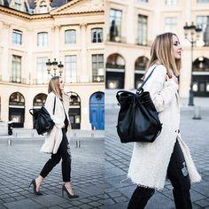 Coat, Bag, Jeans, Pumps