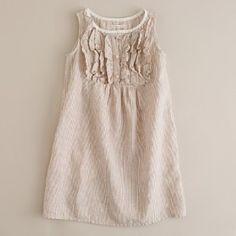 Girls' linen stripe...