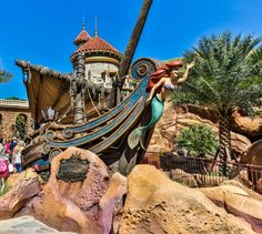 Under the Sea Journey of the Little Mermaid and Ariel's Grotto