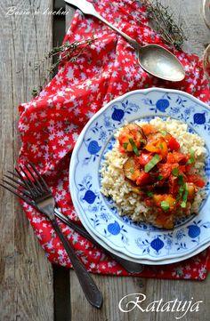 """Basia w kuchni: Ratatuja na """"szybko"""" z naturalnym ryżem"""