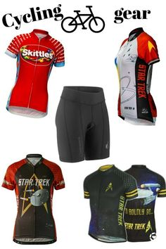 Cycling Clothes, Cycling Gear, Cycling Shorts, Cycling Outfit, Fitness Brand, Gym Wear, Bicycles, Fun Workouts, Star Trek