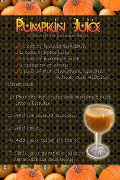 pumpkin juice. Harry potter night. OMG KENDRA! We are so making this and butter beer next time we are together!