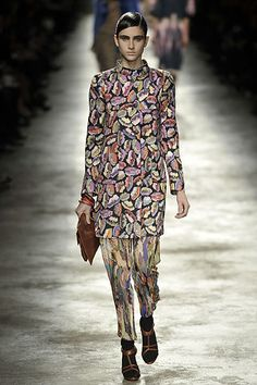 Dries Van Noten Fall 2008 Ready-to-Wear Fashion Show - Carolina Pantoliano