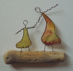 Wire Art: Driftwood, Copper Wire & Paper... www.thestoneartgallery.com Facebook: The Stone Art Gallery Picture Wire, Pebble Pictures, Wire Art, Stone Art, Resin Jewelry, Copper Wire, Driftwood, Paper Art, Art Gallery
