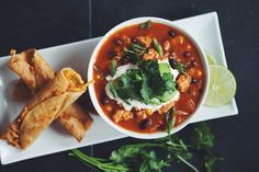 ready for the most amazing tortilla soup you've ever tasted?! Well actually  we think it's more of a taquito soup, because you dip those cheesy taquitos  in it!