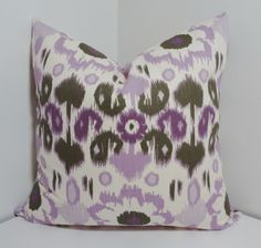 Pillow Cover Lavender Purple Ikat Pillow Cover Throw by HomeLiving, $16.00