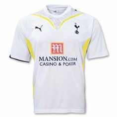 PUMA Tottenham Hotspur Home Jersey 09/10 WH/NV by PUMA. $59.99. The mesh panels and advanced moisture wicking fabric will give you amazing comfort no matter how long you play, train or cheer on your favorite club. Lilywhites Love. Includes embroidered Hotspur team badge and PUMA logos. The Official Tottenham Hotspur Football Club Home Short Sleeved Soccer Jersey by Puma. Country: England  #735960.WN  Tottenham Hotspur is looking to build on an 11th place finish in the Eng...