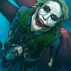 """Hello there Gotham! Sorry for the late post, admin's a bit busy studying. See you later!"" #TheJoker #HeathLedger #TroyBaker #TheKillingJoke #OneBadDay #art #shotgun #scars #TheDarkKnight #Batman #BruceWayne #ChristianBale #Robin #DC #DCComics #DCUniverse"