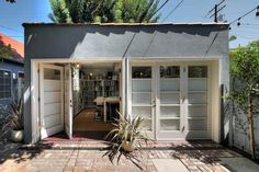 amazing, dreamy studio space with folding doors. converted garage