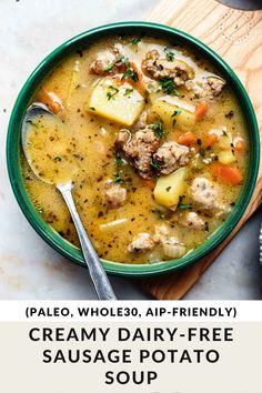Dairy Free Soup, Dairy Free Recipes, Paleo Recipes, Real Food Recipes, Cooking Recipes, Easy Healthy Soup Recipes, Dairy Free Dinners, Dairy Free Salads, Gluten Free