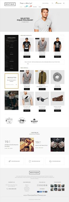 Boutique is clean and modern design responsive #Shopify #theme for stunning boutique and fashion store #eCommerce website with 18+ unique homepage #layouts to live preview & download click on image or Visit