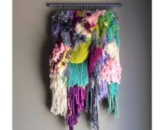 Woven wall hanging / Little treasures n.2 // Handwoven by jujujust