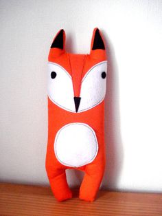 Orange Fox Plush Fox Plushie Fox Plush Toy Stuffed Monster Animal