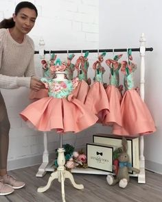 Tag a mom who's been eyeing this dress for her princess! Leila Dress in In stock and ready to ship Click the link in bio to shop Worldwide Delivery ittybittytoes Little Girl Dresses, Girls Dresses, Flower Girl Dresses, Dress Anak, Baby Dress Patterns, Kids Frocks, Baby Wearing, Kids Wear, Cute Dresses