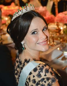Princess Sofia The Nobel Prize Banquet 2015 at Concert Hall in Stockholm