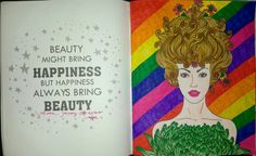 Coloring Book For Adults My Own World Antistress Renebook Beauty Rainbow