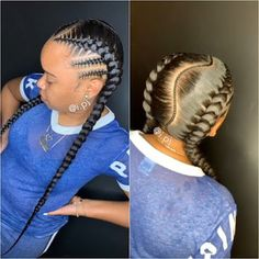 +20 Two Braids Hairstyles for African Women To Try In Summer Nights