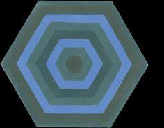 Emery & cie - Carrelages - Ciment - Exemples - Vitrines - Automne 2013 - Modèles - Hexagones Geometriques - 176