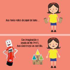 Una idea divertida para reutilizar los rollos de cartón junto a tus pequeños, es hacer manualidades. ¡#ConPritt todo es posible! ¿Ustedes acostumbran reutilizar materiales? #CreaConPritt #Cuento #Pritt #Reciclaje #Creatividad #Imaginación
