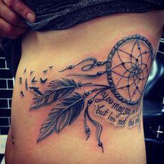 Dreamcatcher tattoo with birds <3