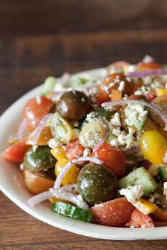 Greek Salad from Heather Christo's Generous Table on www.whatsgabycooking.com
