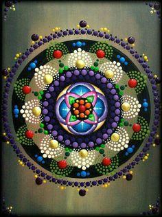 Lotus Flower Mandala Painting by Kirsty of ArtbyKirstyRussell on Etsy♥♥ Mandala Design, Mandala Art, Lotus Flower Mandala, Mandala Canvas, Mandala Rocks, Mandala Painting, Painting Flowers, Dot Art Painting, Stone Painting