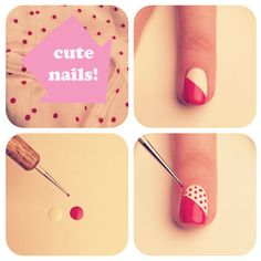 Oh btw if you don't have a dotting tool use the tip of a bobby pin #how to make nail dots