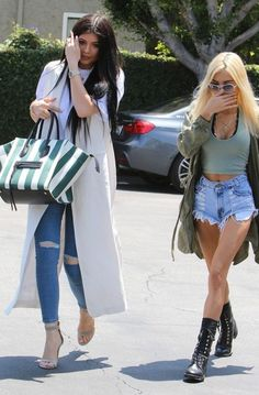Kylie Jenner and Pia Mia Shop at Fred Segal