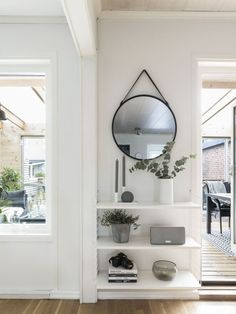 Cleverly fill a space Gravity Home, Entry Hallway, Home Management, Scandinavian Home, Deco Design, Home Goods, Sweet Home, Living Room, Interior Design