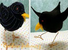 Come fare uccellini imbottiti in pannolenci - Tutorial di Candace Jedrowicz