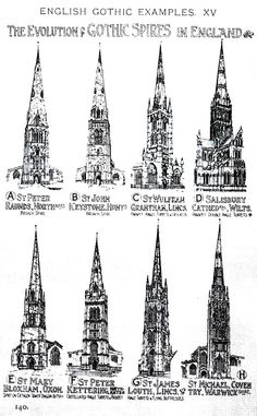 Europeanarchitecture The Evolution Of Gothic Spires In England A History Architecture On Comparative Method By Sir Banister Fletcher