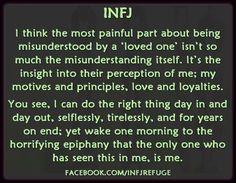 infj misunderstood - it sounds a little self absorbed, because it is. Infj Mbti, Intj And Infj, Infj Type, Enfj, Infj Traits, Infj Personality, Rarest Personality Type, Personality Characteristics, Personality Profile