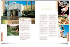 There are too many pictures in this story which takes away from the content presented in the writing. The main picture on the left and one of the 3 pictures on the right should be kept. Images are grand and colorful. Desert Resort, Magazine Page Layouts, 3 Picture, Life Magazine, Graphic Design Layouts, Layout Design, Cover Pages, Magazine Design, Resort Spa