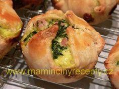 Špenátové košíčky – Maminčiny recepty Baked Potato, Potatoes, Meat, Chicken, Baking, Ethnic Recipes, Food, Potato, Bakken