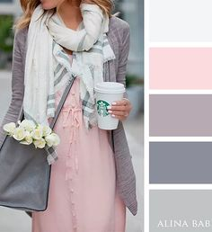 Pink and Gray color palette Colour Pallete, Colour Schemes, Color Combos, Pink Palette, Pastel Color Palettes, Colour Combinations Fashion, Color Combinations For Clothes, Stoff Design, Gris Rose