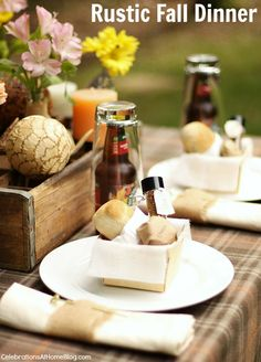 Entertaining : Rustic Fall Table - Celebrations at Home