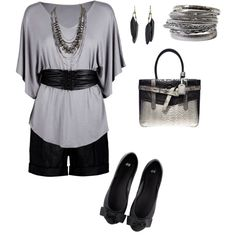 black and gray, created by lisa-trent on Polyvore