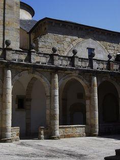 Cloître (XVIIe) de la cathédrale, Mondoñedo, comarque de la Mariña Central, province de Lugo, Galice, Espagne.
