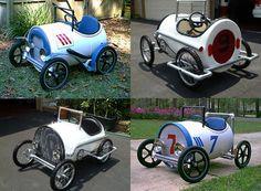 diy make car from plastic barrel
