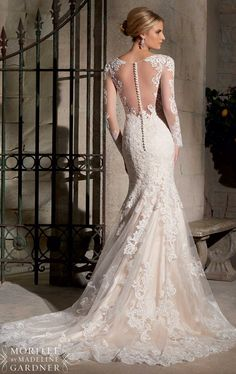 Embroidered Lace Gown by Mori Lee 2725 by Bridal by Mori Lee