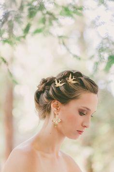Gold Bird Bobby Pins Bird Hair Pins Bird Hair Clips Wedding Hair Pins Wedding Bobby Pins Wedding Hair Clip Woodland Wedding Hair Accessories