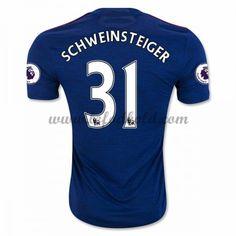 Billige Fodboldtrøjer Manchester United 2016-17 Schweinsteiger 31 Kortærmet Udebanetrøje