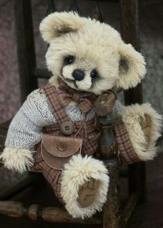 ** Teddy by oldrose Vintage Teddy Bears, My Teddy Bear, Cute Teddy Bears, Stuffed Animals, Stuffed Toys, Charlie Bears, Boyds Bears, Love Bear, Bear Doll