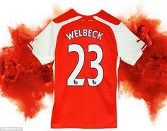 Numbers game: Welbeck has the squad No 23, synonymous with Michael Jordan and David Beckha...