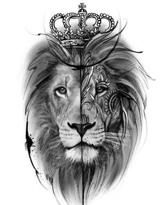 Lion tattoos have different meanings. - Lion tattoos have different meanings. Lions are proud and brave … – Lion tattoos have different - Lion Tattoo With Crown, Lion Head Tattoos, Leo Tattoos, Celtic Tattoos, Animal Tattoos, Tattoos For Guys, Horse Tattoos, Lion Tattoo Sleeves, Tribal Sleeve Tattoos
