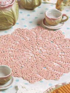 Crochet - Other - Pink Blush Doily