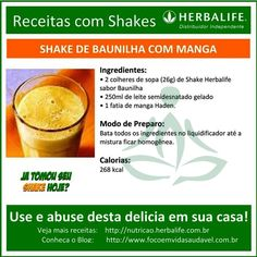 Receita com Shake Herbalife, experimente esta delicia em casa! http://www.focoemvidasaudavel.com.br #herbalife #shake #focoemvidasaudavel