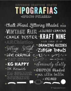 HappyPaperie®22Free-Chalkboard-Fonts